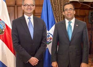 Cancilleres de Costa Rica y RD, desarrollarán reunión bilateral y firmarán convenios de cooperación en áreas técnica financiera y educación